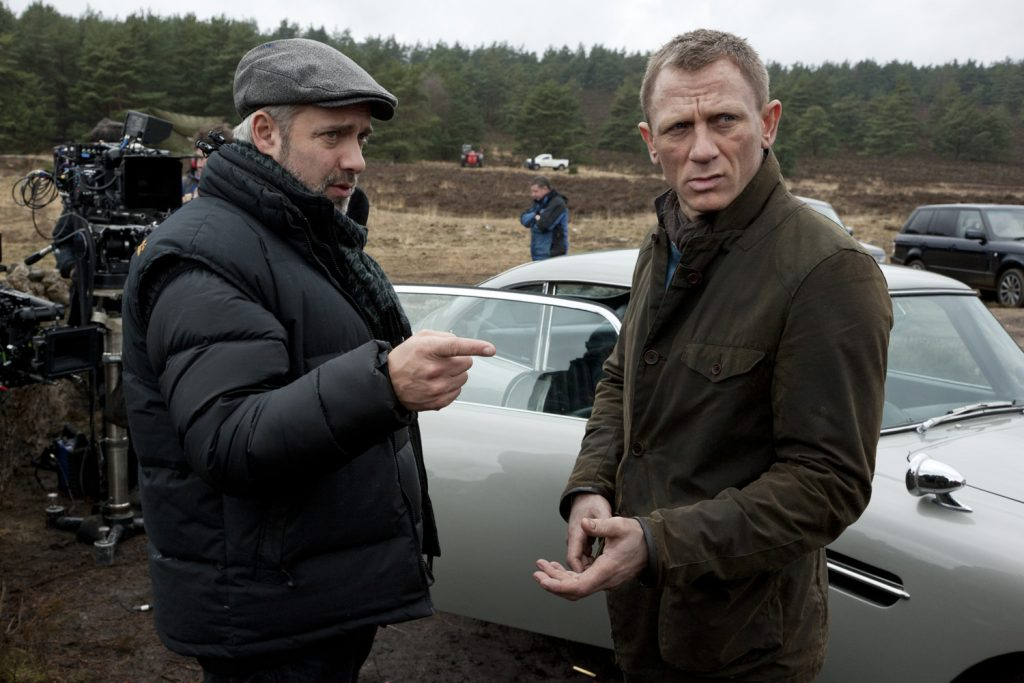 Director Sam Mendes and Daniel Craig on the set of Metro-Goldwyn-Mayer Pictures/Columbia Pictures/EON Productions' action adventure SKYFALL.