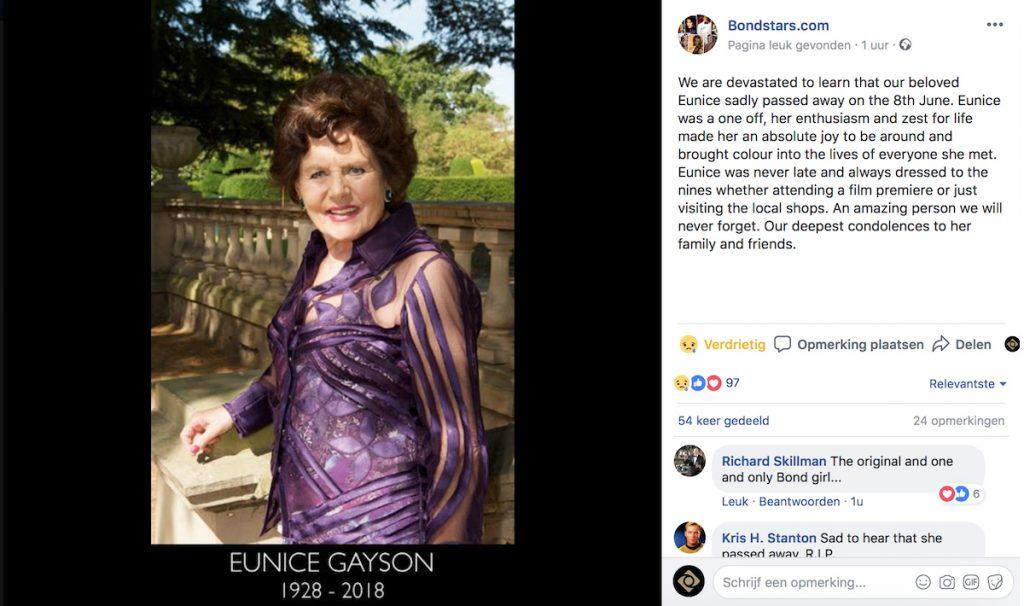 Facebookbericht Bondstars