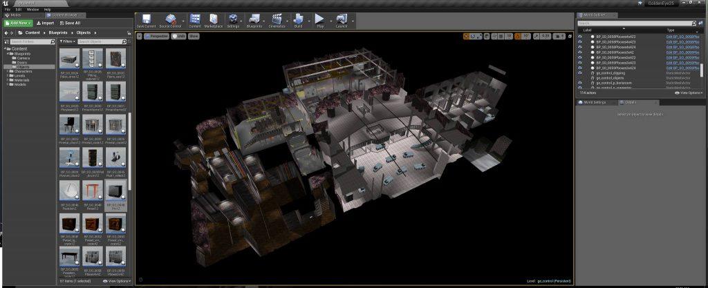 GoldenEye ingevoerd in Unreal Studio