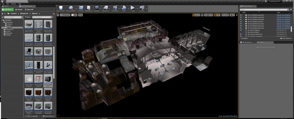 GoldenEye ingevoerd in Unreal Studio