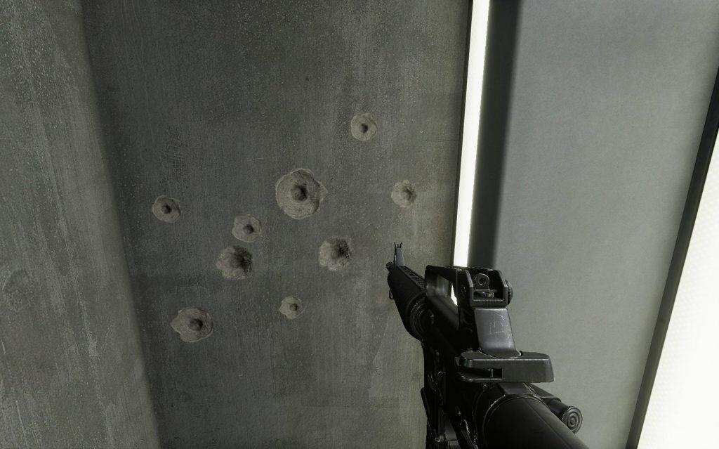 Proeven met schieten.