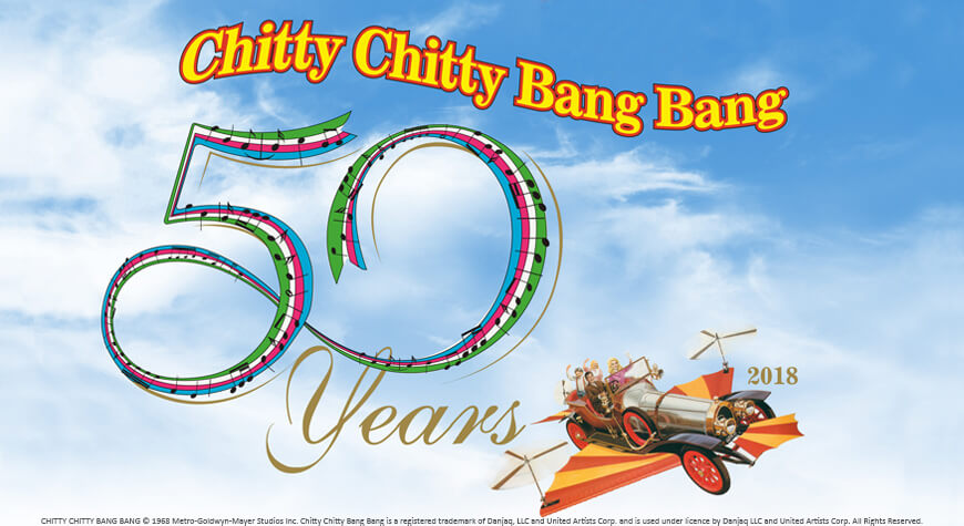 50 jaar Chitty Chitty Bang Bang in 2018.