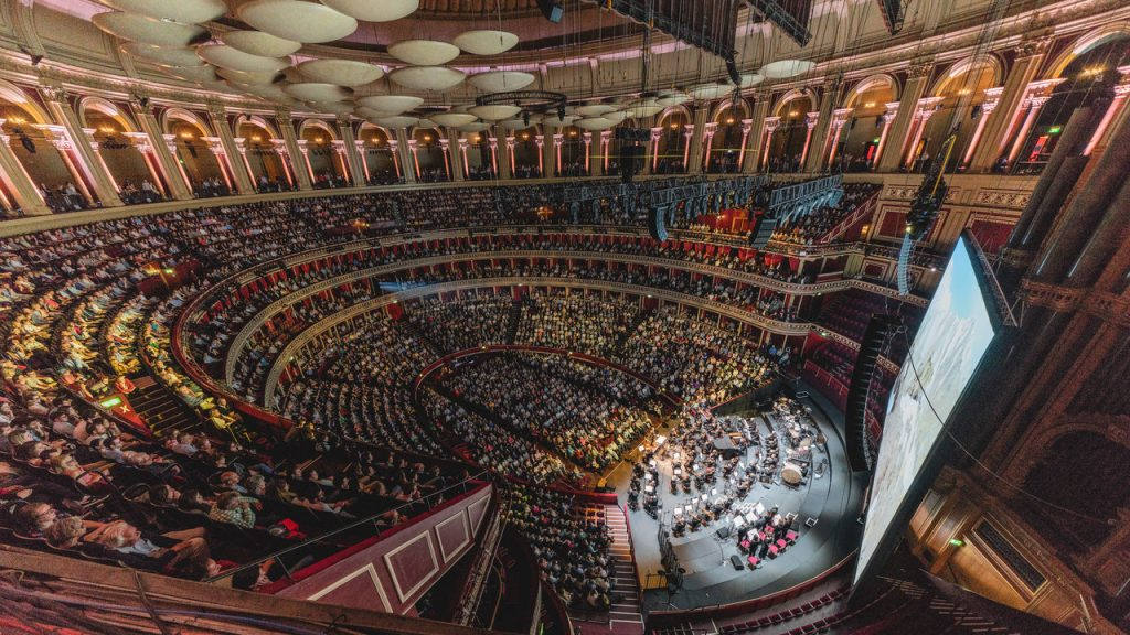 De Royal Albert Hall als filmzaal. © 2018 Royal Albert Hall