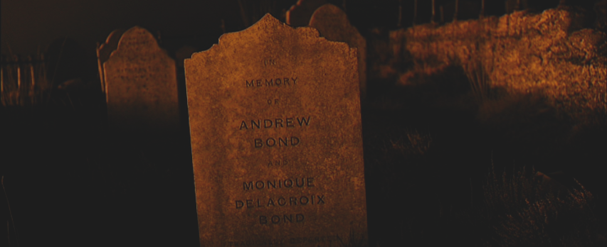 Andrew Bond & Monique Delacroix Bond Gravestone | Skyfall