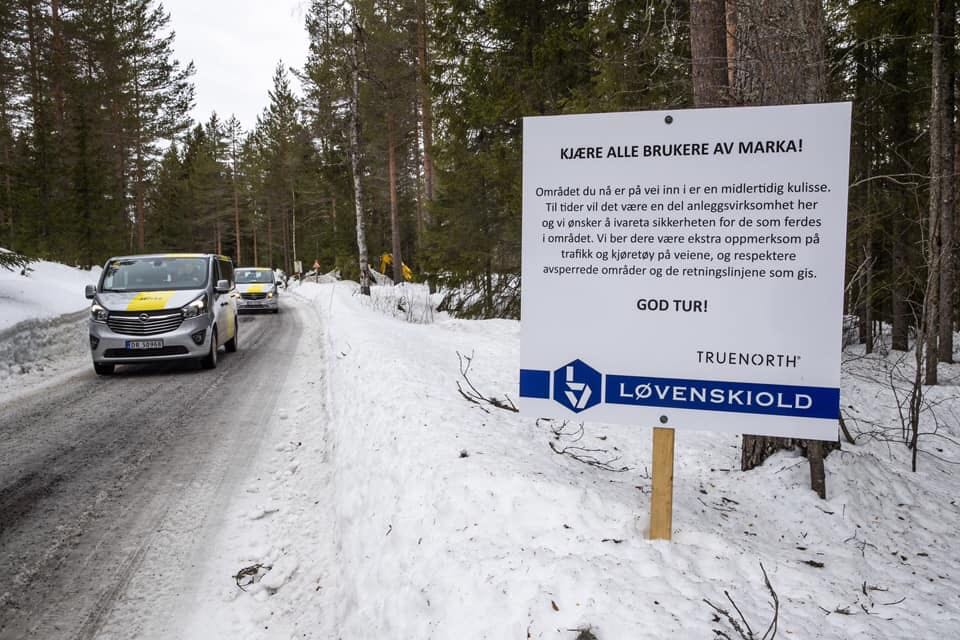 Waarschuwingsborden in Noordwegen