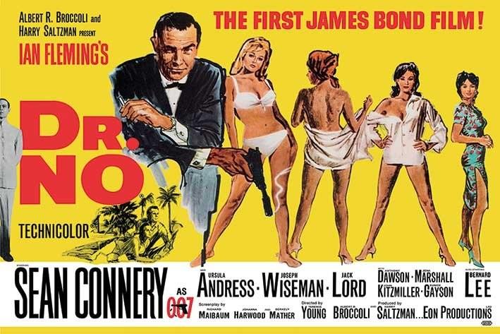 De UK Quad poster van Dr. No.