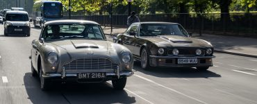 Aston Martin DB5 en V8 Vantage Londen Global James Bond Day 2018 header