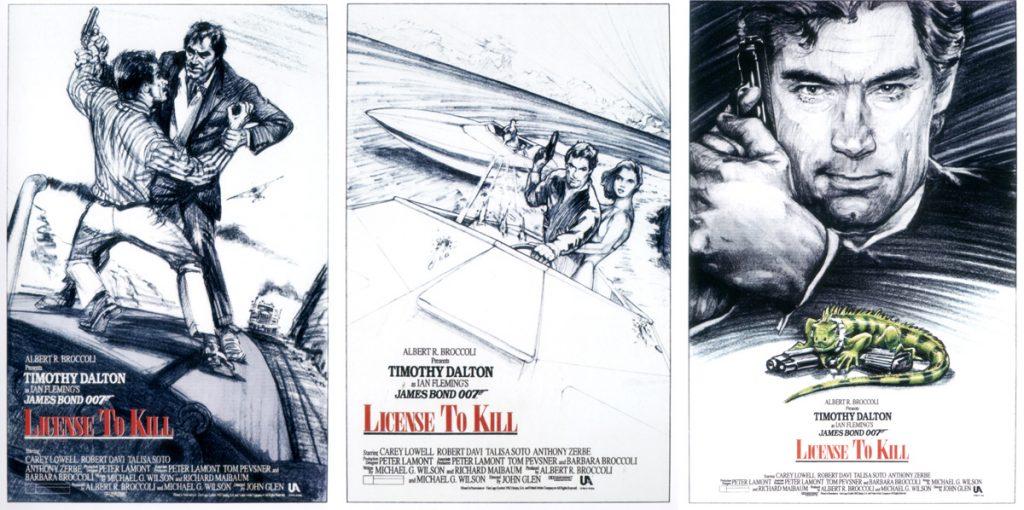Ter viering van  30 jaar LIcence To Kill werden deze poster concepten gepubliceerd.© 007.com