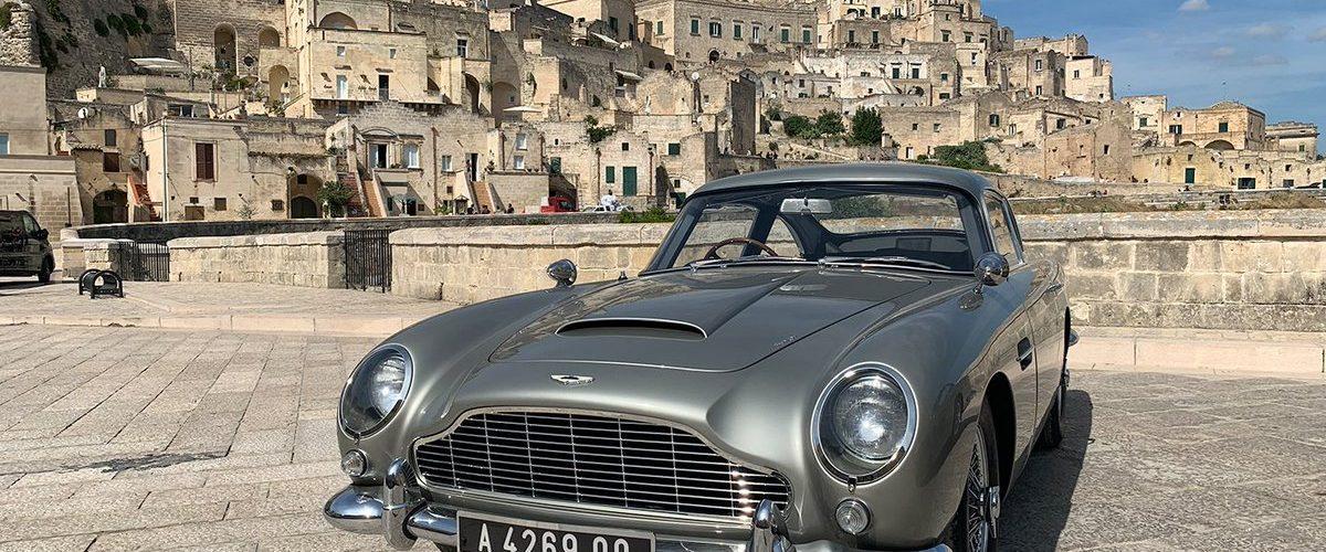 No Time To Die Aston Martin DB5 MAtera Italie fotoshoot 001