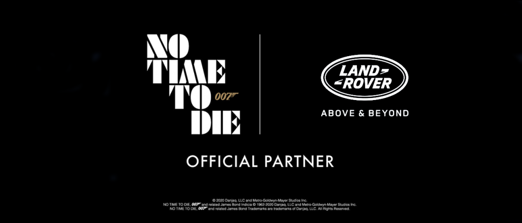 No Time To Die sponsorschap Jaguar Land Roverkopie