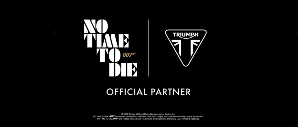 No Time To Die sponsorschap Triumph