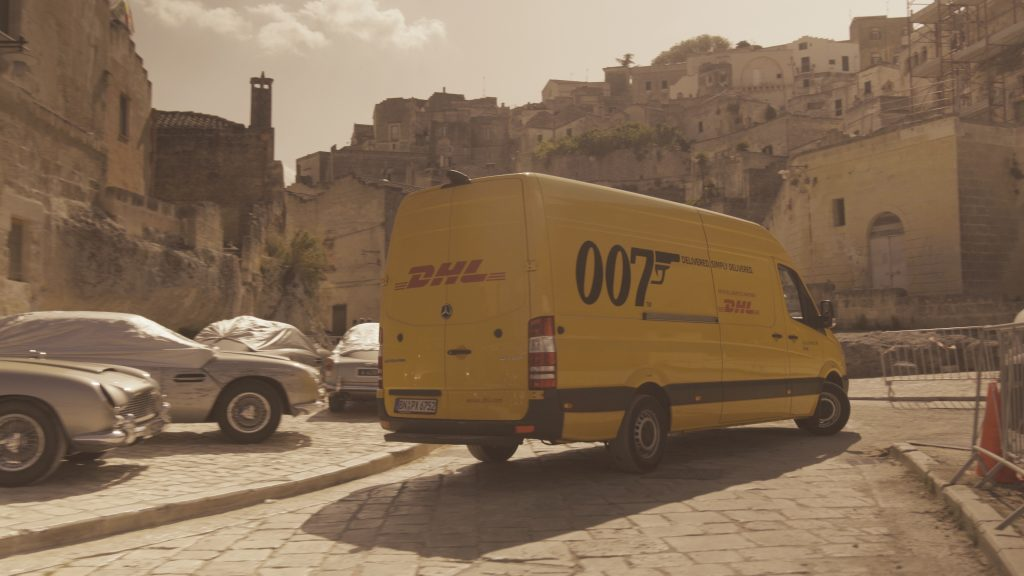 DHL No Time To Die Matera