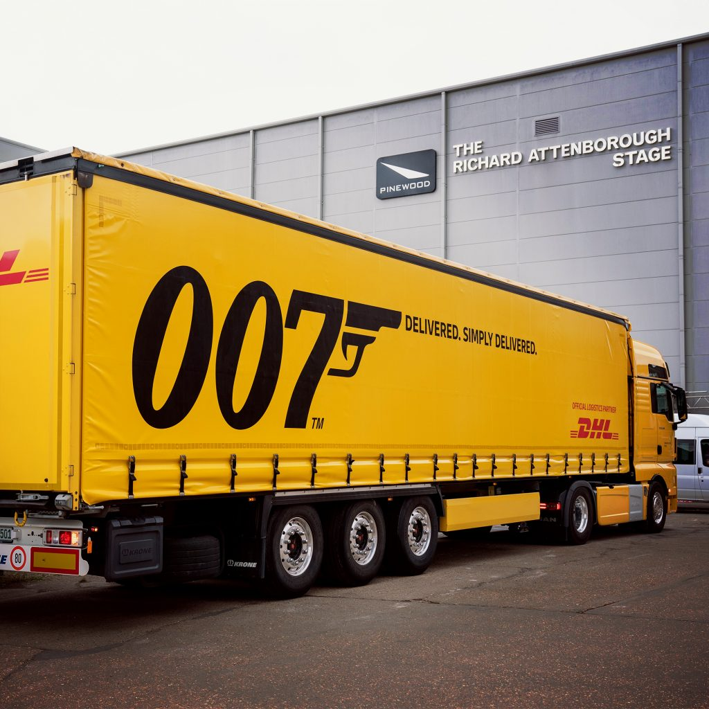 DHL No Time To Die Pinewood Studios