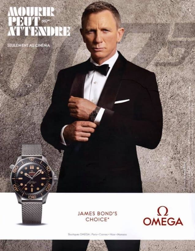 No Time To Die advertentie Omega Frans