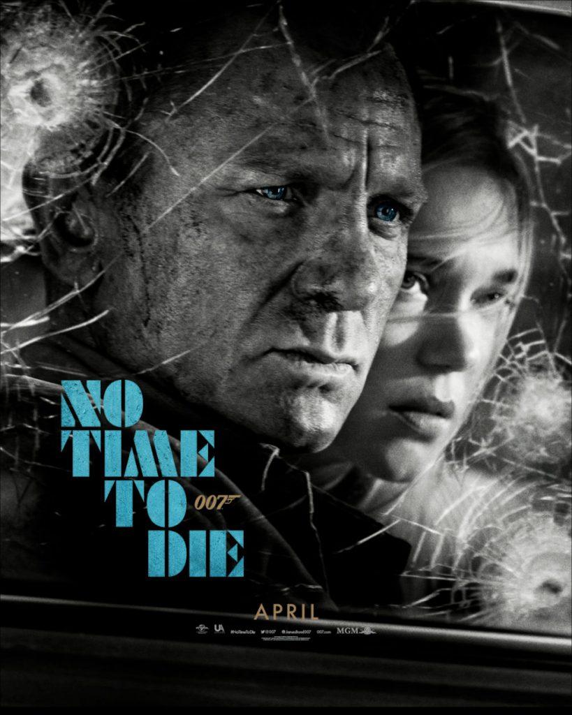 No Time To Die poster Back in Action James Bond Madeleine Swann Aston Martin DB5