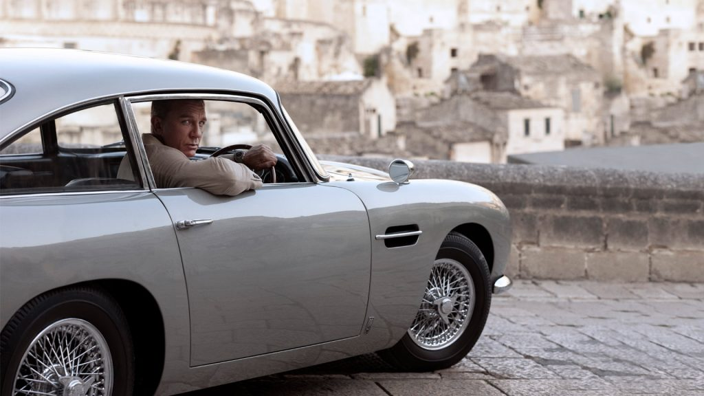 Omega James Bond No Time To Die Daniel Craig Aston Martin DB5 Matera Italie