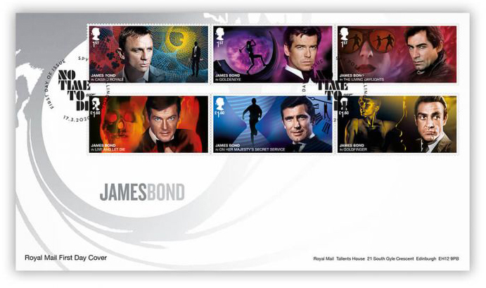 Royal Mail postzegels 2020 karakter set spy post 001