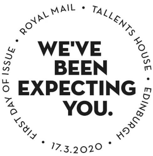 Royal Mail postzegels 2020 karakter set talent house 002