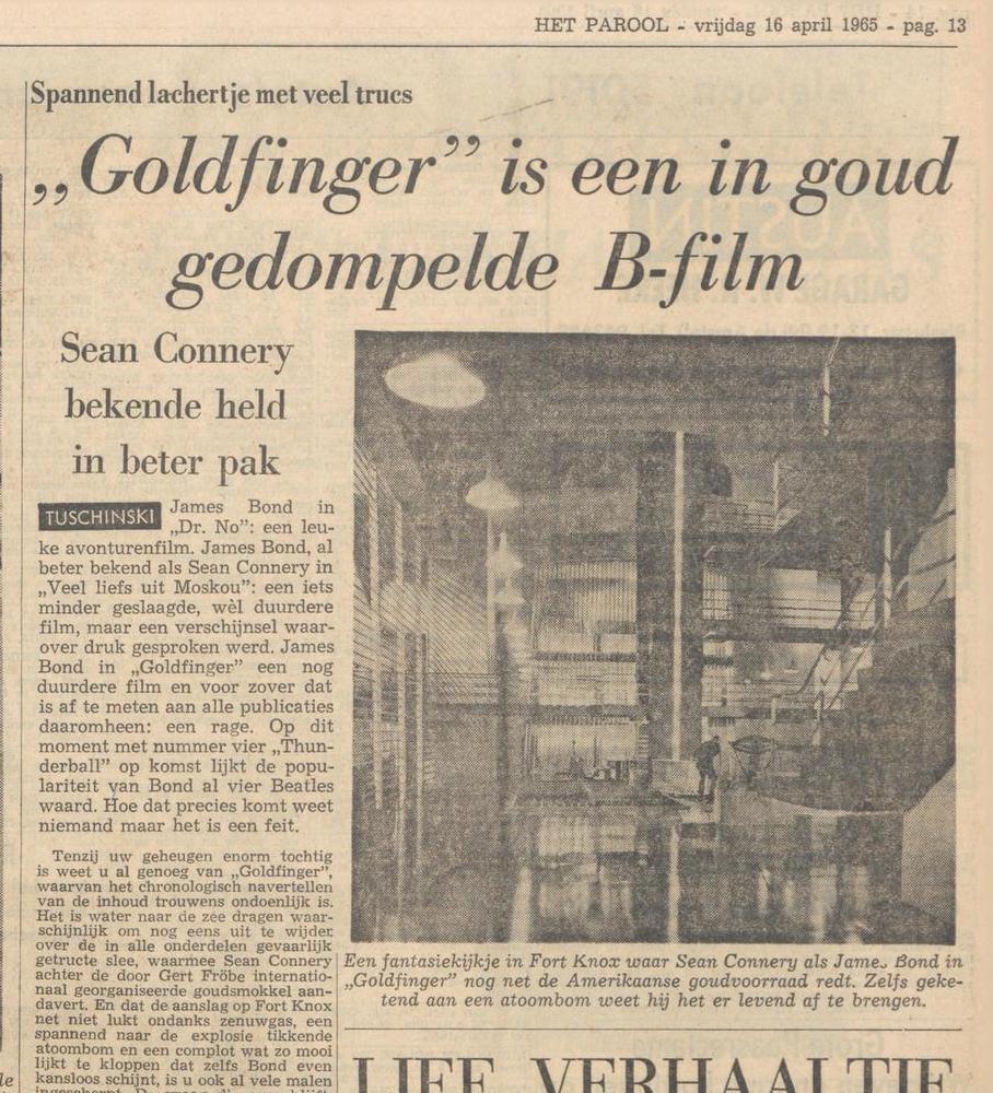 Het krantenartikel uit het Parool.