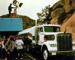 De Kenworth vrachtwagens op locatie in Mexico.